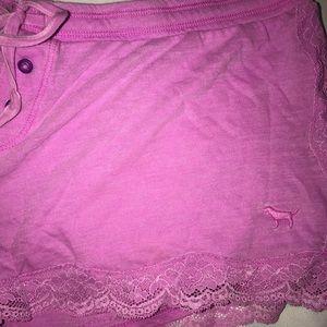 PINK Victoria's Secret Intimates & Sleepwear - Victoria's Secret PINK purple lace pajama short L
